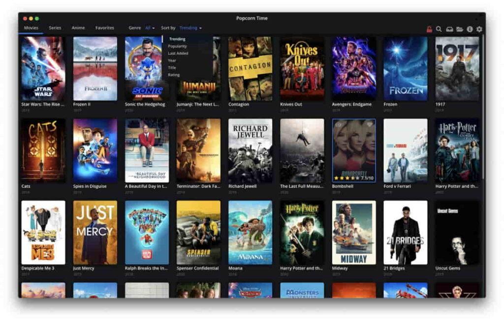 Popcorn Time APK Mac/IOS